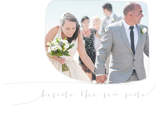 Seaside wedding photography