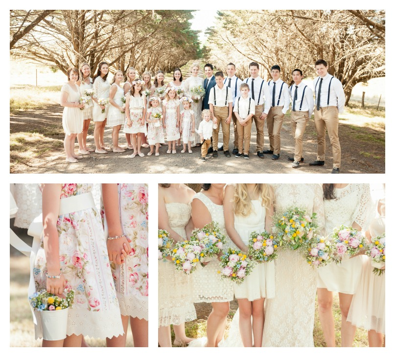 Kate Moss Wedding Big Bridal Party Country