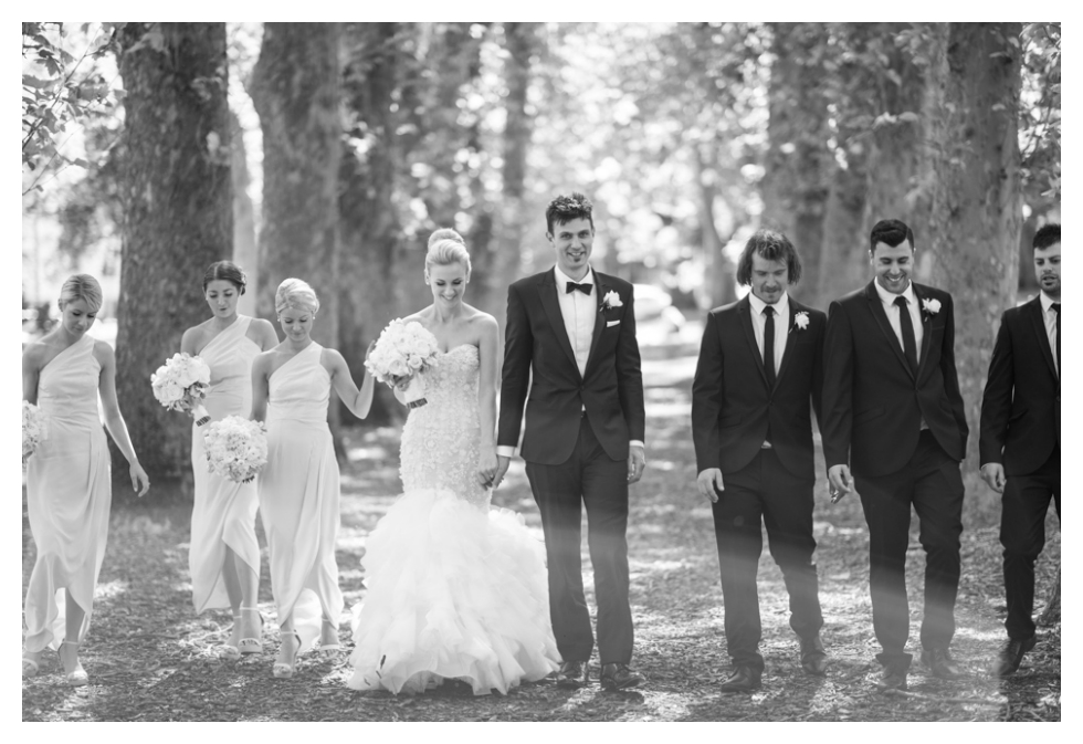 melbourne wedding, tree avenue, fitzroy gardens, milk photography