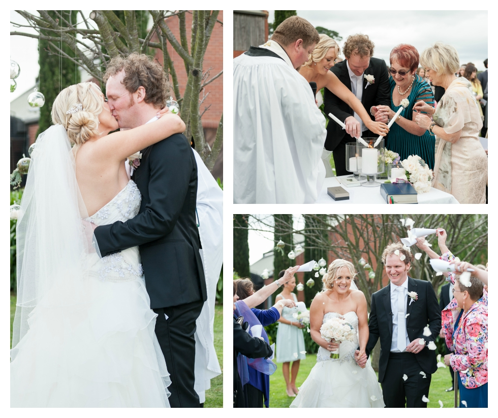 first kiss, melbourne wedding photography
