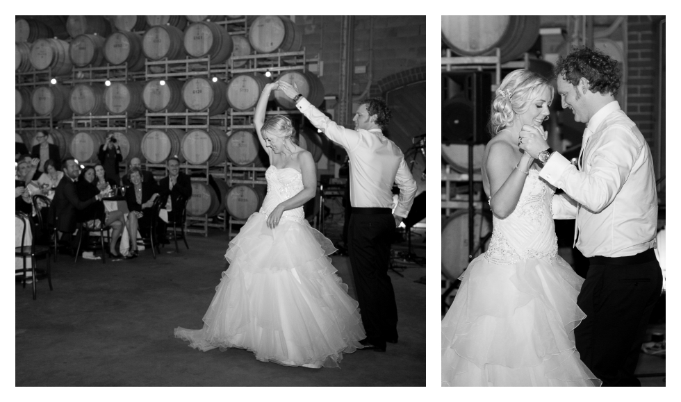 first dance, salix, willow creek barrel room, melbourne wedding photographer