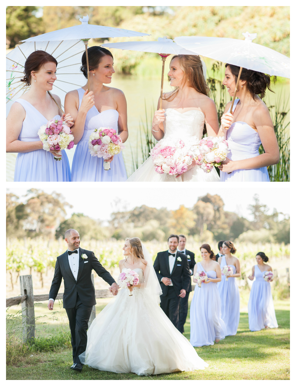 wedding parasols, werribee mansion wedding, milk photography